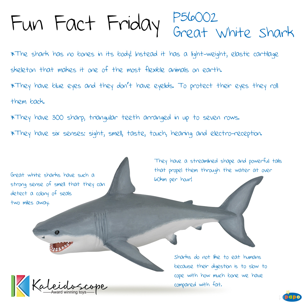 Papo Fun Fact Great White Sharks P56002