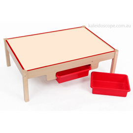Wooden Play Table/2 Bins(1)